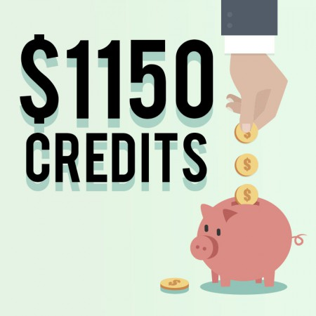 1150 credits